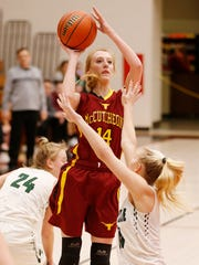Olivia Dowden led McCutcheon in points, assists, steals and blocks as a junior.