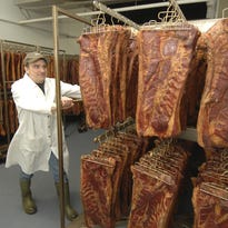 Nueske's, in business more than 80 years, sells a variety of smoked meat products.