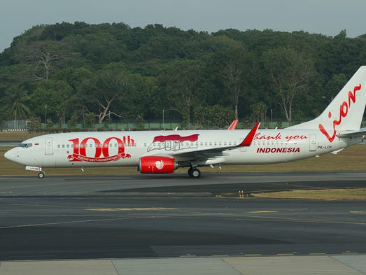 The 100th Boeing 737NG for Indonesia-based Lion Air