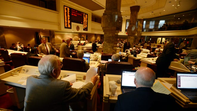The House of Representatives meets at the State House on Thursday, March, 13, 2014.