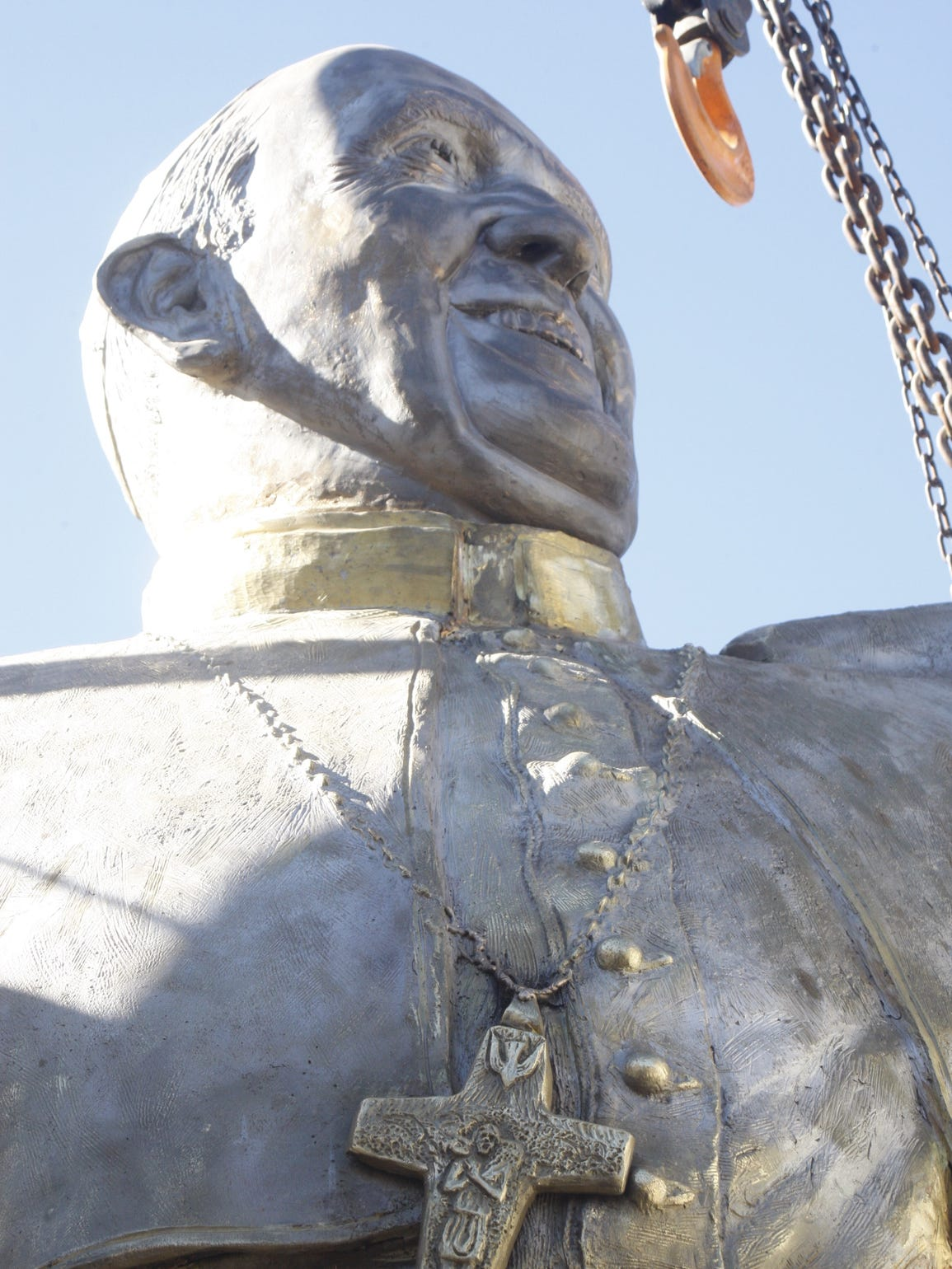 This 13-foot statue of Pope Francis will be unveiled