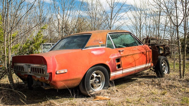"""Once believed destroyed and lost forever, """"Little Red,""""  a 1967 Shelby GT500 prototype, was discovered on March 3, 2018, in rural North Texas."""