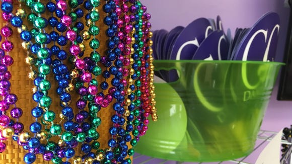 Fans and beads are free to customers at CC's Daiquiris.