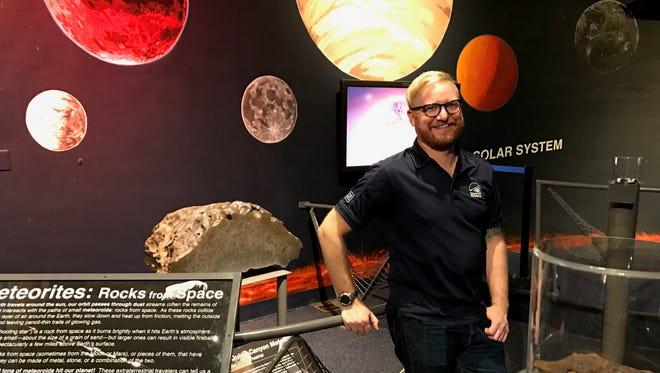 Dan Ruby is the planetarium director at the Meteorite Exhibit.