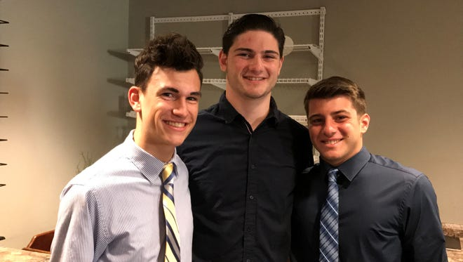 Photo: (L to R) Maxwell Ballas, Ryan Dickens, and Michael Pruscino