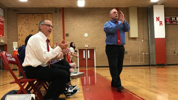 North Rockland girls basketball head coach Kevin Metcalf