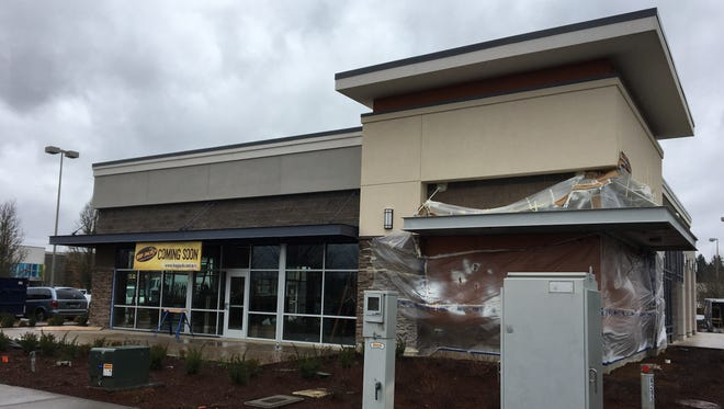 Construction of a new Hop Jack's location at 6295 Keizer Station Blvd. NE in Keizer, Oregon, on Feb. 28, 2018.
