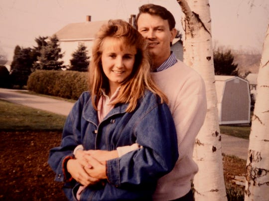 Laura took Doug to meet her parents in Pennsylvania, where this photo was taken, in spring 1988.