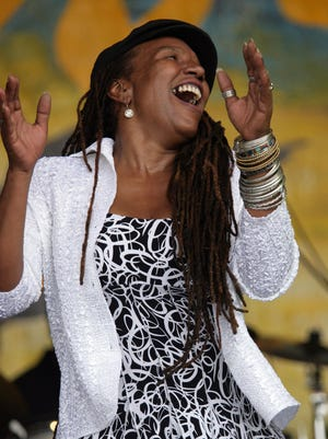 Charmaine Neville performs during the 2008 New Orleans Jazz & Heritage Festival. Catch her at Parc Sans Souci Friday for Downtown Alive!