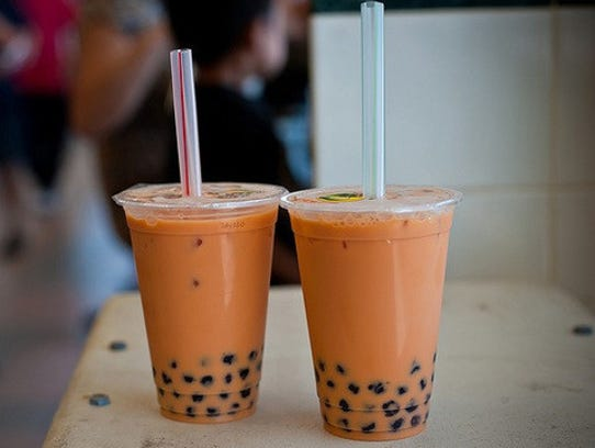 The Thai iced tea from Pho'tastic is a refreshing drink