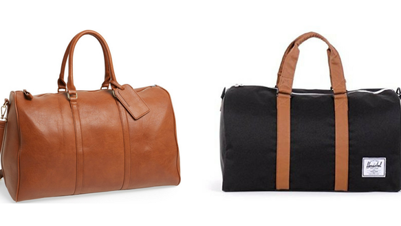 Sole Society and Herschel overnight bags