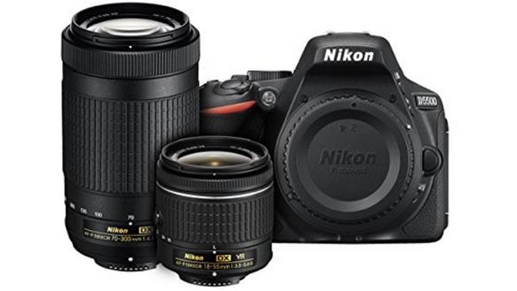 Nikon D5500 camera and lenses
