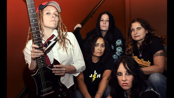 Hell's Belles play their Belles Bent for Leather tribute