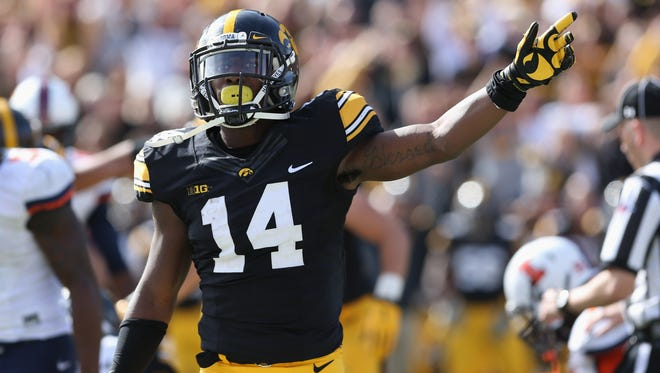 Iowa's Desmond King leads the nation with eight interceptions this season.