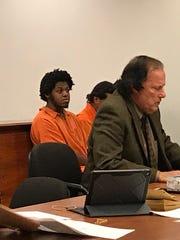 Sohjah Powell-Warner and his attorney Jack Venturi