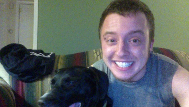Jay Ralko,22, pictured here with his dog Xena, has been missing since Dec. 10.