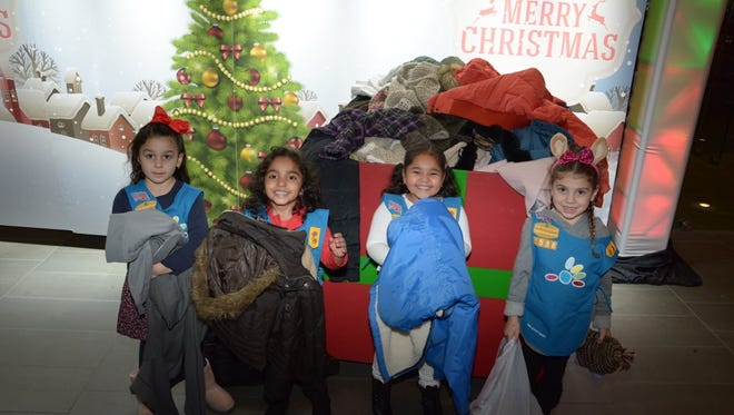 Yonkers' Daisy Girl Scouts Troop #1538 collected more than 65 coats for Empire City Casino's annual coat drive.