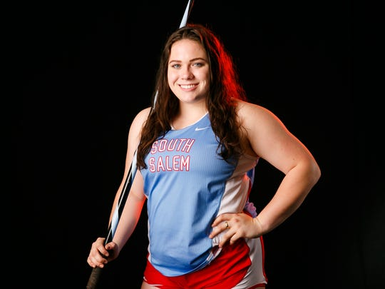 Kaia Alexander, a junior at South Salem High School, is nominated for the Statesman Journal Mid-Valley Sports Awards girls track and field player of the year. Photographed at the Statesman Journal in Salem on Wednesday, May 9, 2018.