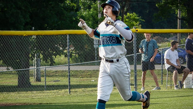 Siegel's Drew Benefield trots home after a home run during the Class AAA state baseball tournament. Benefield was named District 7-AAA MVP.
