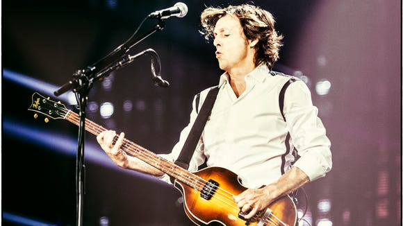 "Paul McCartney on the ""Out There"" tour in October in New Orleans."