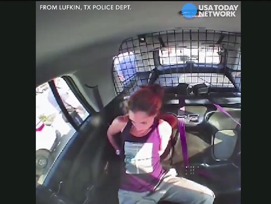 Woman slips cuffs