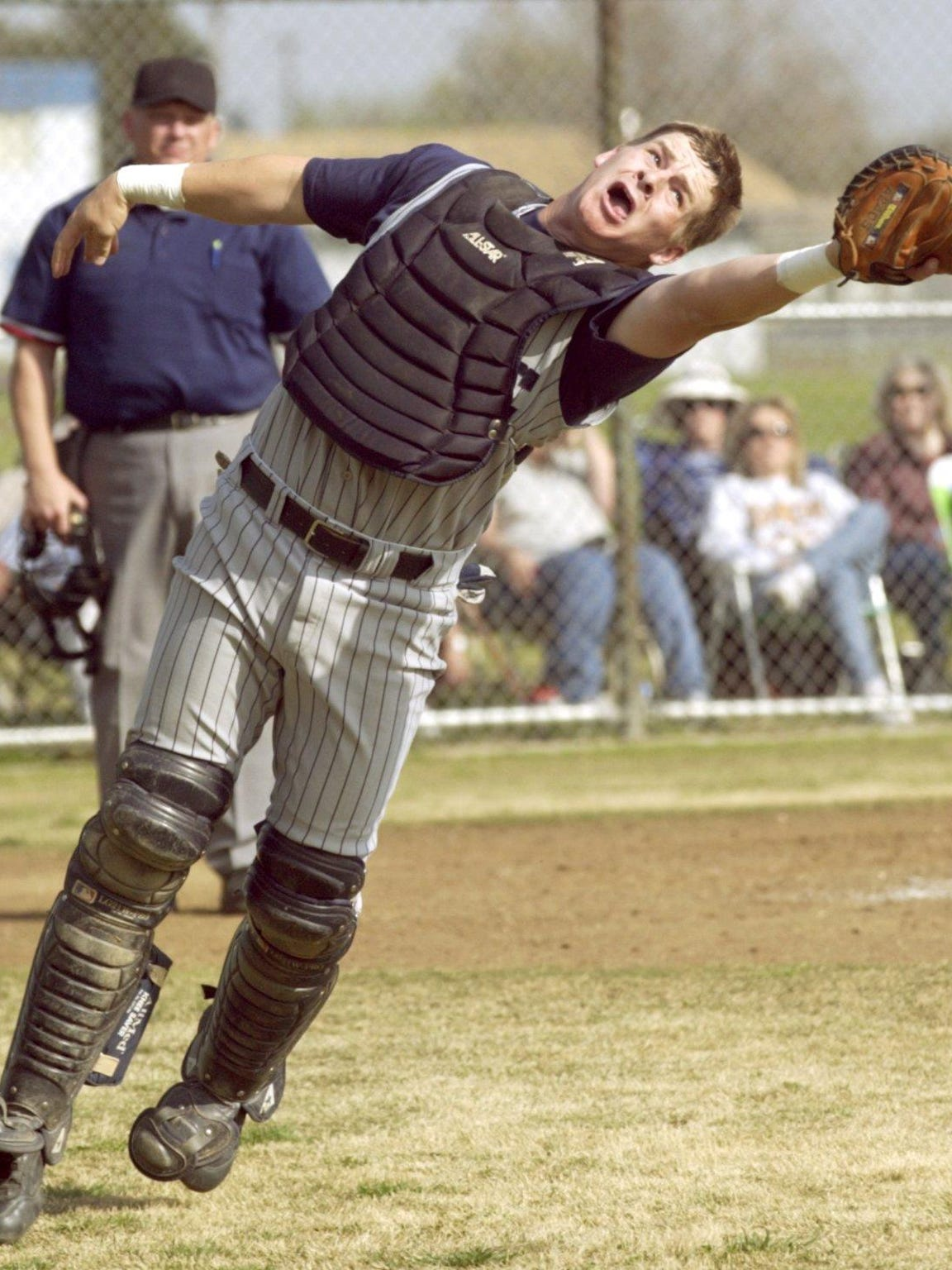 Then Central Valley Christian catcher Stephen Vogt