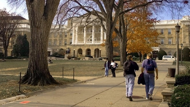 Bascom Hill on the University of Wisconsin Madison campus.