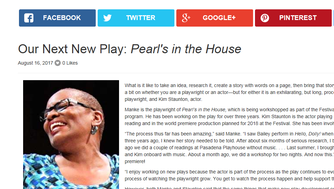 """A screenshot of the Utah Shakespeare Festival website shows a photo of Kim Staunton, who was set to portray Pearl Bailey in """"Pearl's in the House."""" The play has been canceled."""