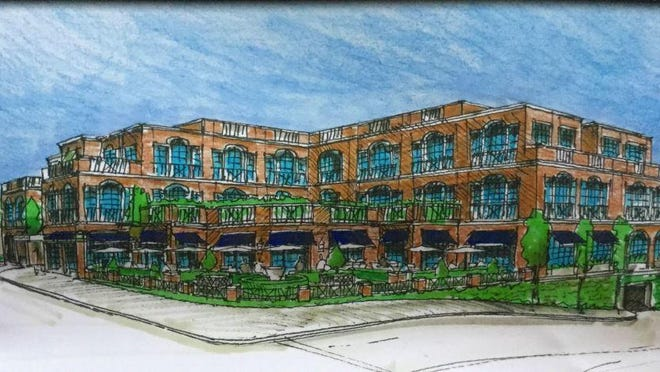 Artist's rendering of Chancellor's House