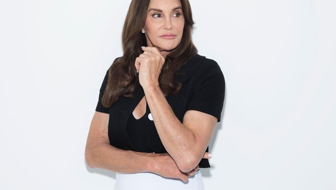 """Caitlyn Jenner is picturing posing for a portrait in New York to promote her memoir, """"The Secrets of My Life."""""""