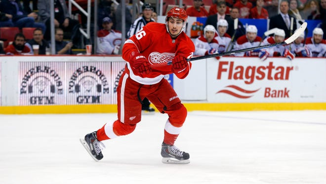 Detroit Red Wings right wing Tomas Jurco.