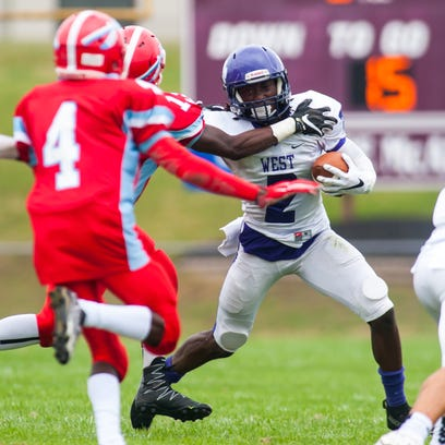 Nick DiVietro rushed for a game-high 116 yards and two touchdown as Cherry Hill West improved to 3-0 overall.