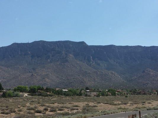 The Sandia Mountains in Albuquerque, New Mexico.