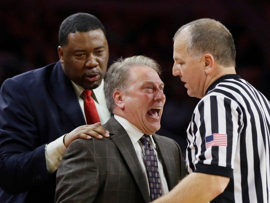MSU associate head coach Dwayne Stephens has been pulling Izzo away from officials for 16 years.