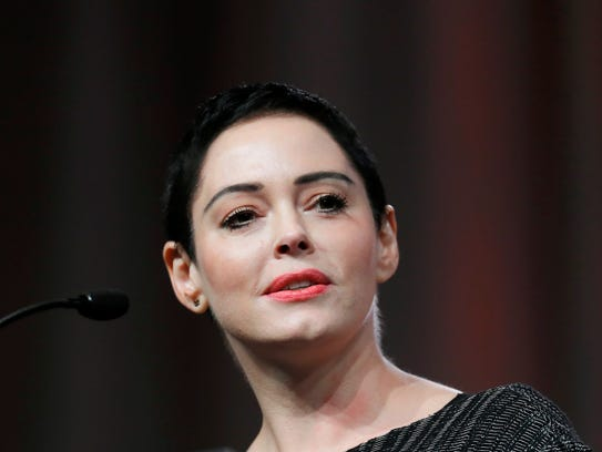 An arrest warrant has been obtained for Rose McGowan,