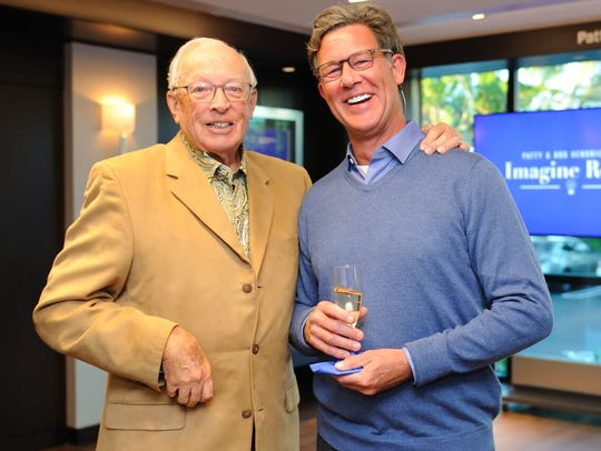 Bob Hendrickson, left, and Dennis McDonald at the Maltz