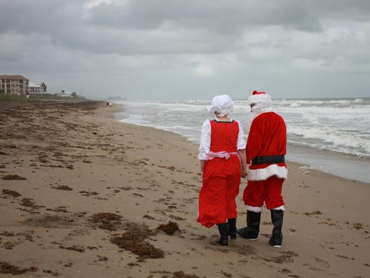 Santa and Mrs. Claus, courtesy of Skip and Sandra Racette,
