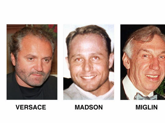 Andrew Cunanan's victims: Gianni Versace, David Madson, Lee Miglin, William Reese and Jeffrey Trail.
