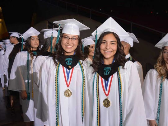 Santa Teresa Class of 2018 Santa Teresa High School Salutatorian Elizabeth Beltran, and Valedictorian Clarissa Molina, were part of the record scholarship winning class that had $4.3 million in scholarships awarded. The commencement ceremonies took place Saturday, May 26, 2018, at the Don Haskins Center in El Paso.