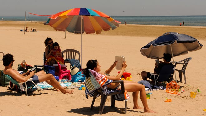 High waves and strong currents will create dangerous swimming conditions today at Lake Michigan beaches, including Neshotah Beach, according to the National Weather Service of Green Bay.