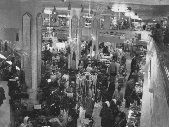 Knapp's interior during Christmas season, undated photo.