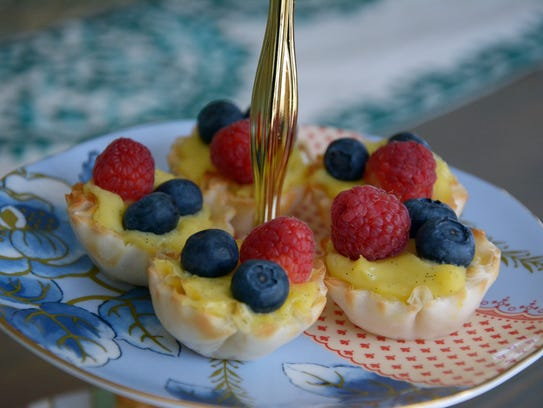 These elegant but easy fruit tarts are a perfect sweet