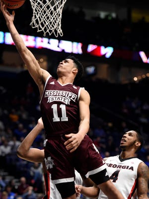 Mississippi State sophomore guard Quinndary Weatherspoon will be a big leader for a young Bulldogs team this season.