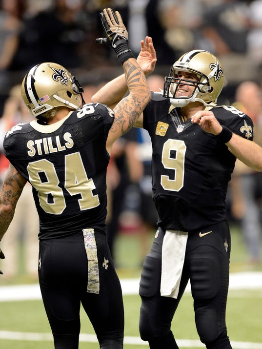2013-11-10 Drew Brees Kenny Stills