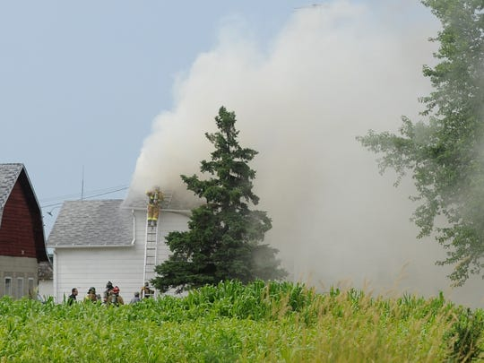 Numerous departments responded to a house fire on Lakeshore Drive between Van Dyne and North Fond du Lac on Friday afternoon.