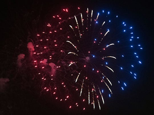 Sertoma's Fourth of July fireworks festivities downtown Pensacola.