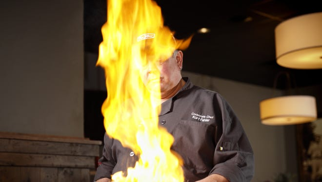 Kurt Fahler works his magic as the corporate chef for The Bar Group. Fahler, who died Feb. 28 at age 51, was also a big heavy metal fan.