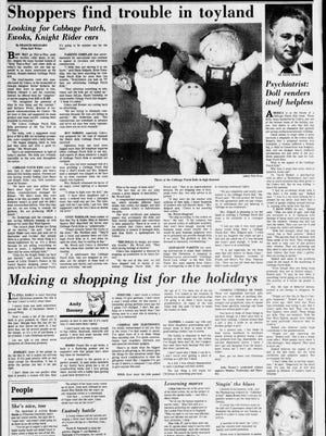 The cover of the Asbury Park Press features section on Thursday, Dec. 1, 1983.