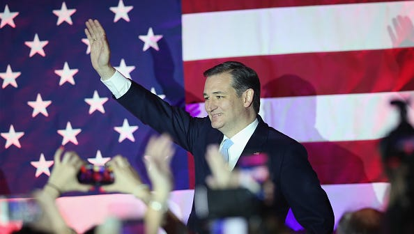 Republican presidential candidate Sen. Ted Cruz, Republican-Texas, greets supporters in Wisconsin.