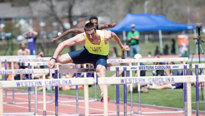 Milan Ristic recorded a time of of 13.66 seconds in the preliminary round of the  110-meter high hurdles Monday night.